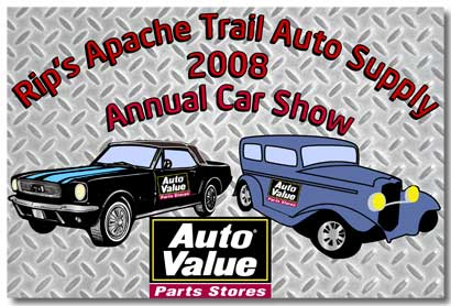 Rip's Apache Trail Auto Supply Dash Plaque