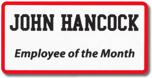 Employee of the Month Name Tag